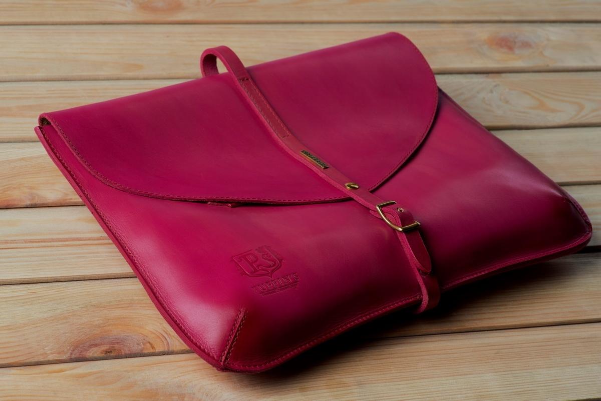 элегантный клатч platanus leaf / чехол для macbook 13'' пурпурный