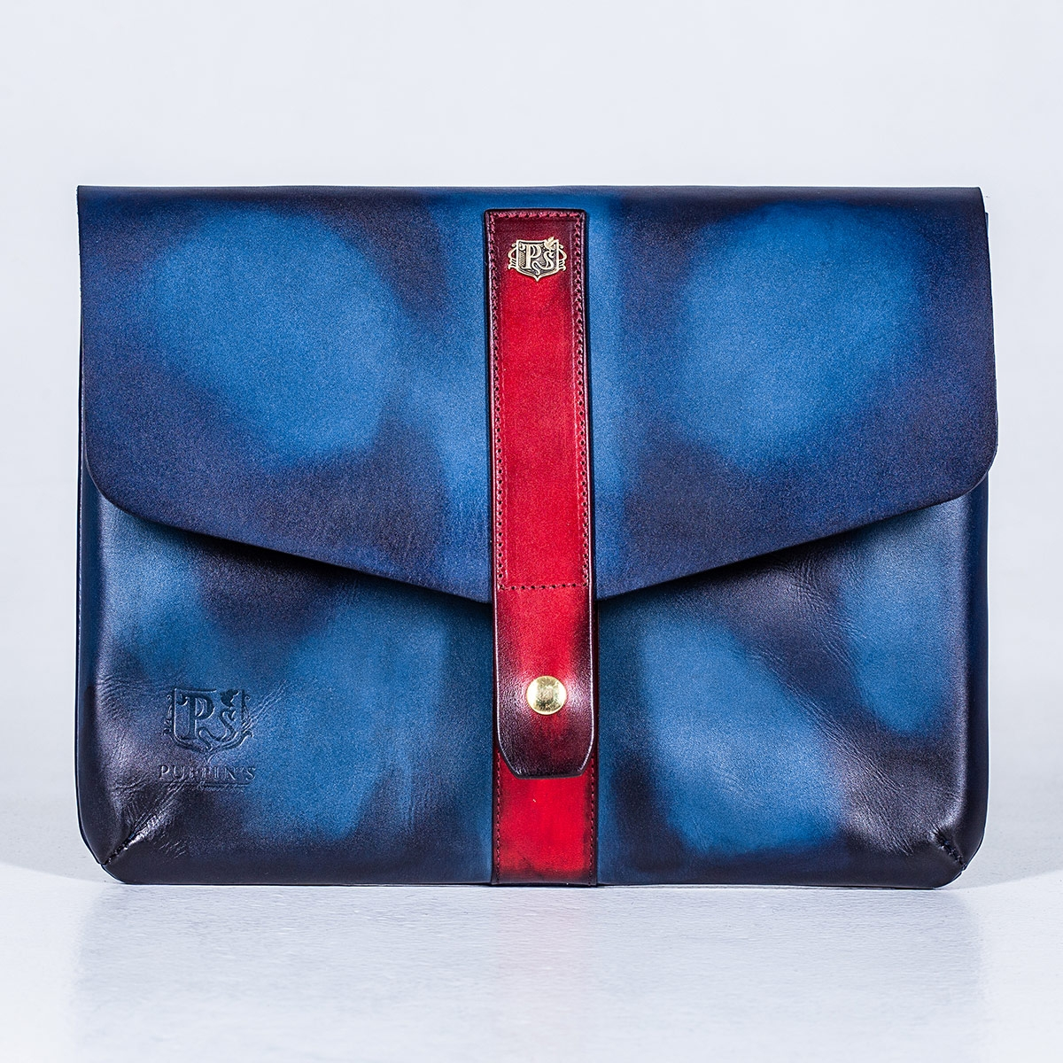 Document folder SOHO / 13'' MacBook case red currant & sapphire blue