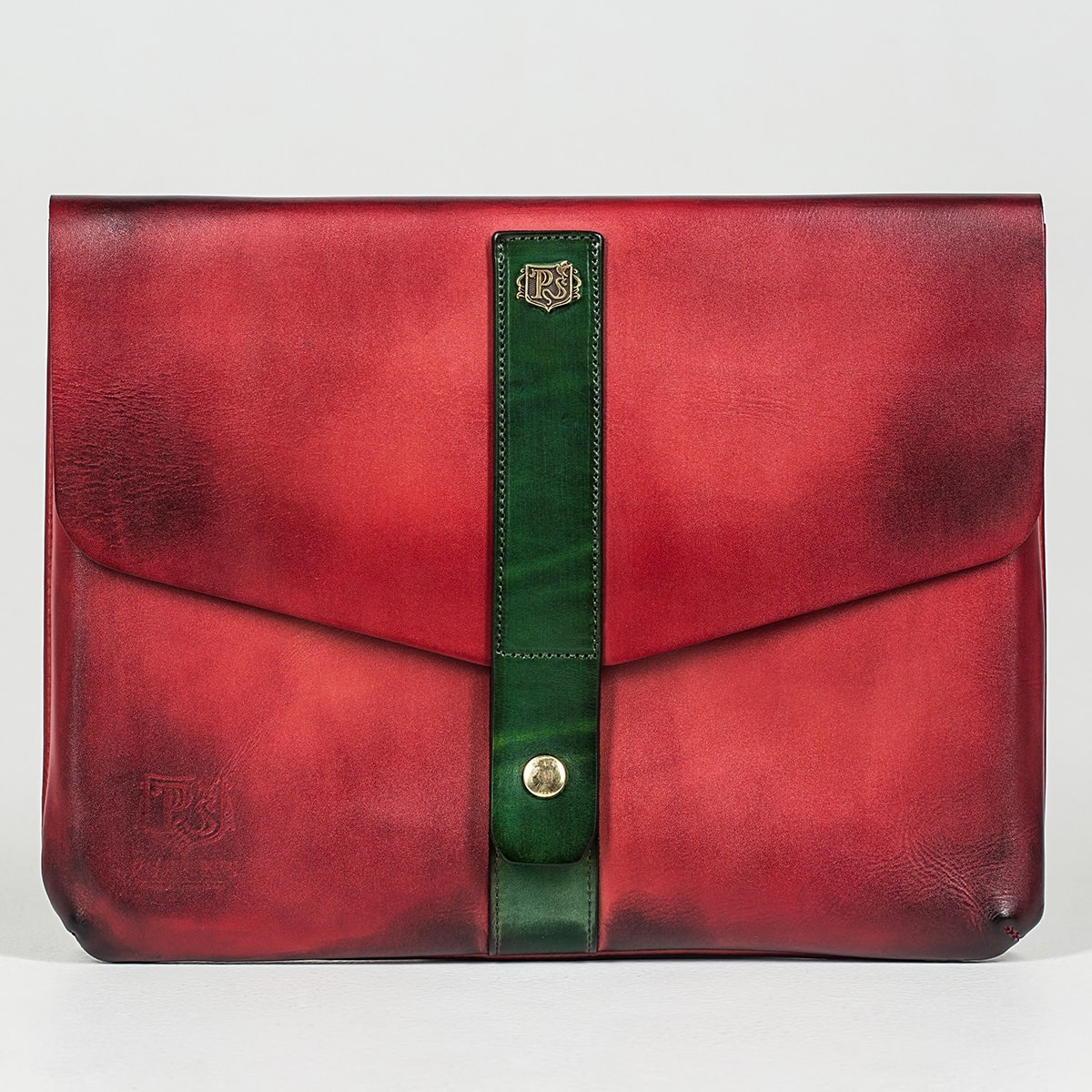 Document folder SOHO / 13'' MacBook case grassy green & red currant