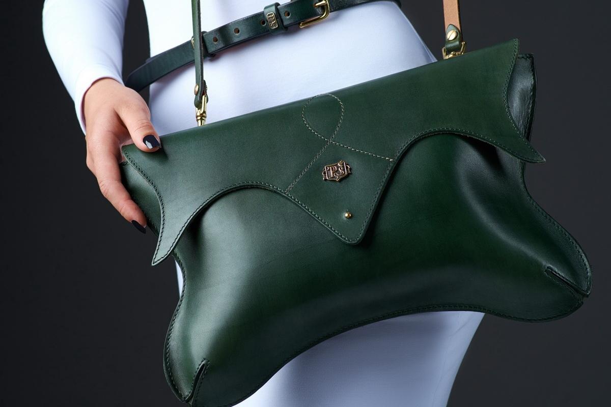 женский клатч lotus зеленый травяной
