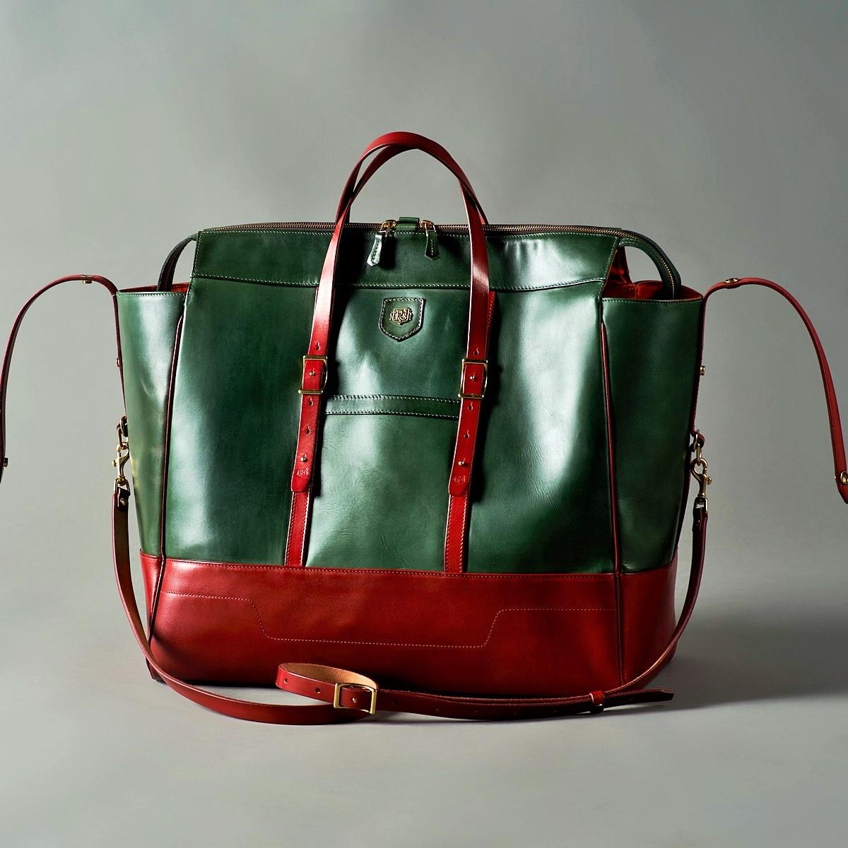дорожная сумка weekender красная смородина & зеленый травяной