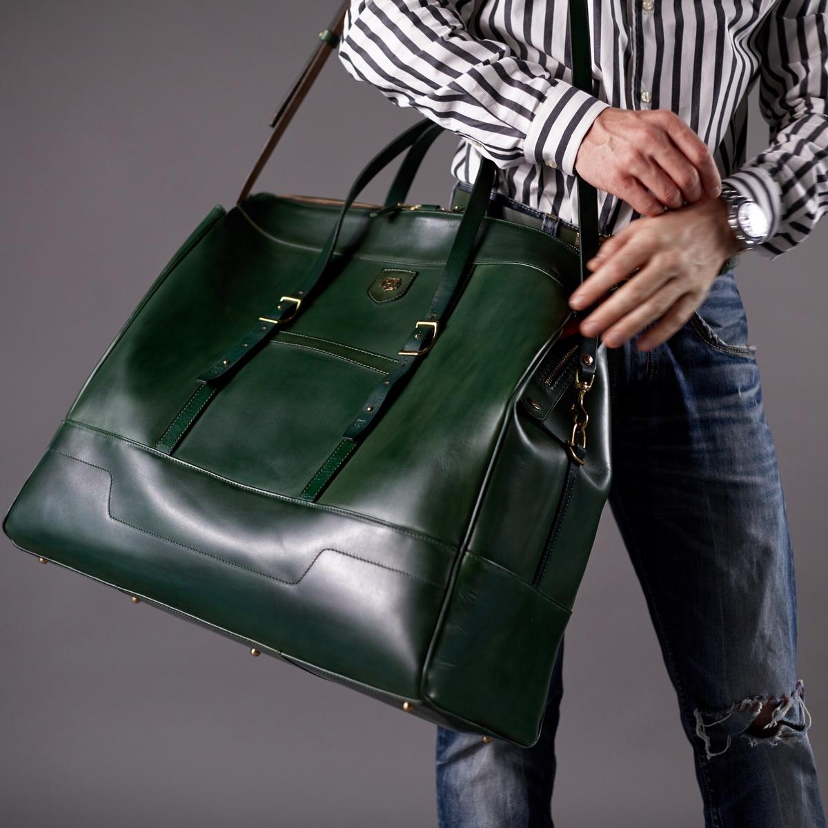 дорожная сумка weekender зеленая травяная