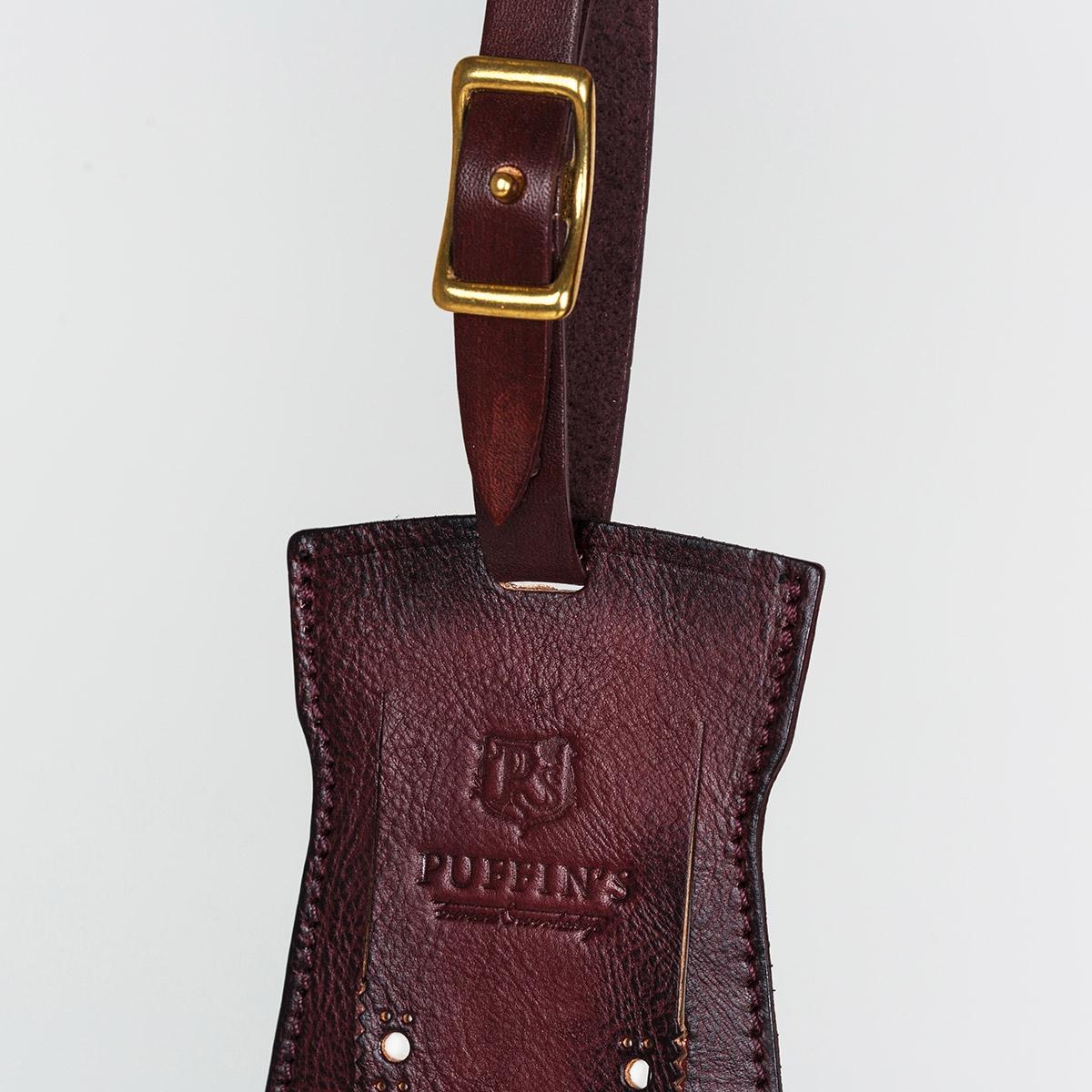 Багажный ярлык TAVARUA персонализированный с патиной бордо