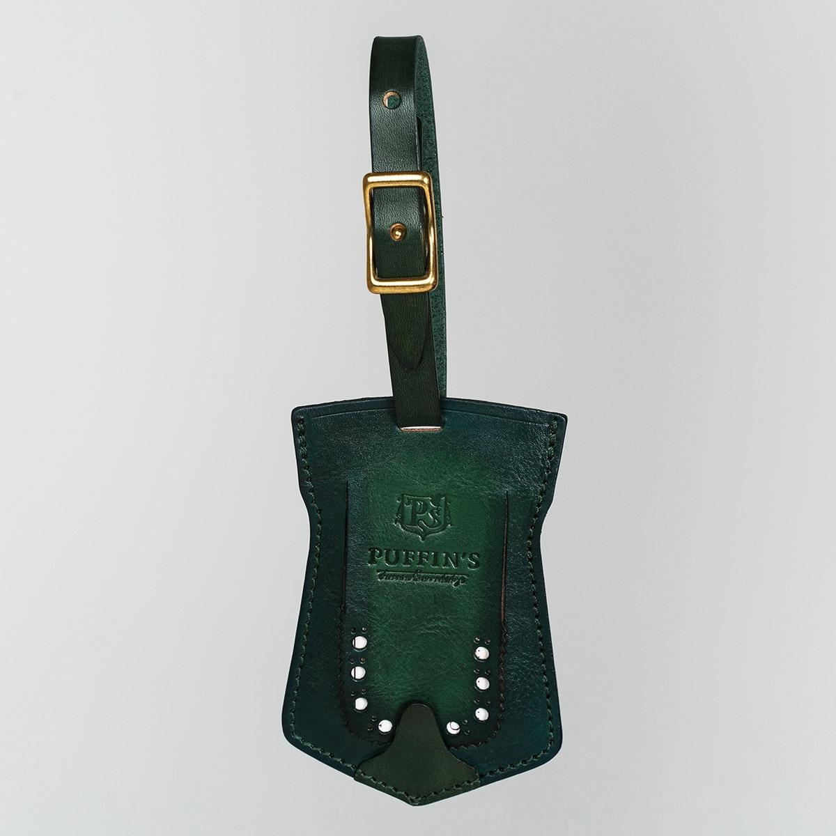 Багажный ярлык TAVARUA персонализированный с патиной зеленый травяной