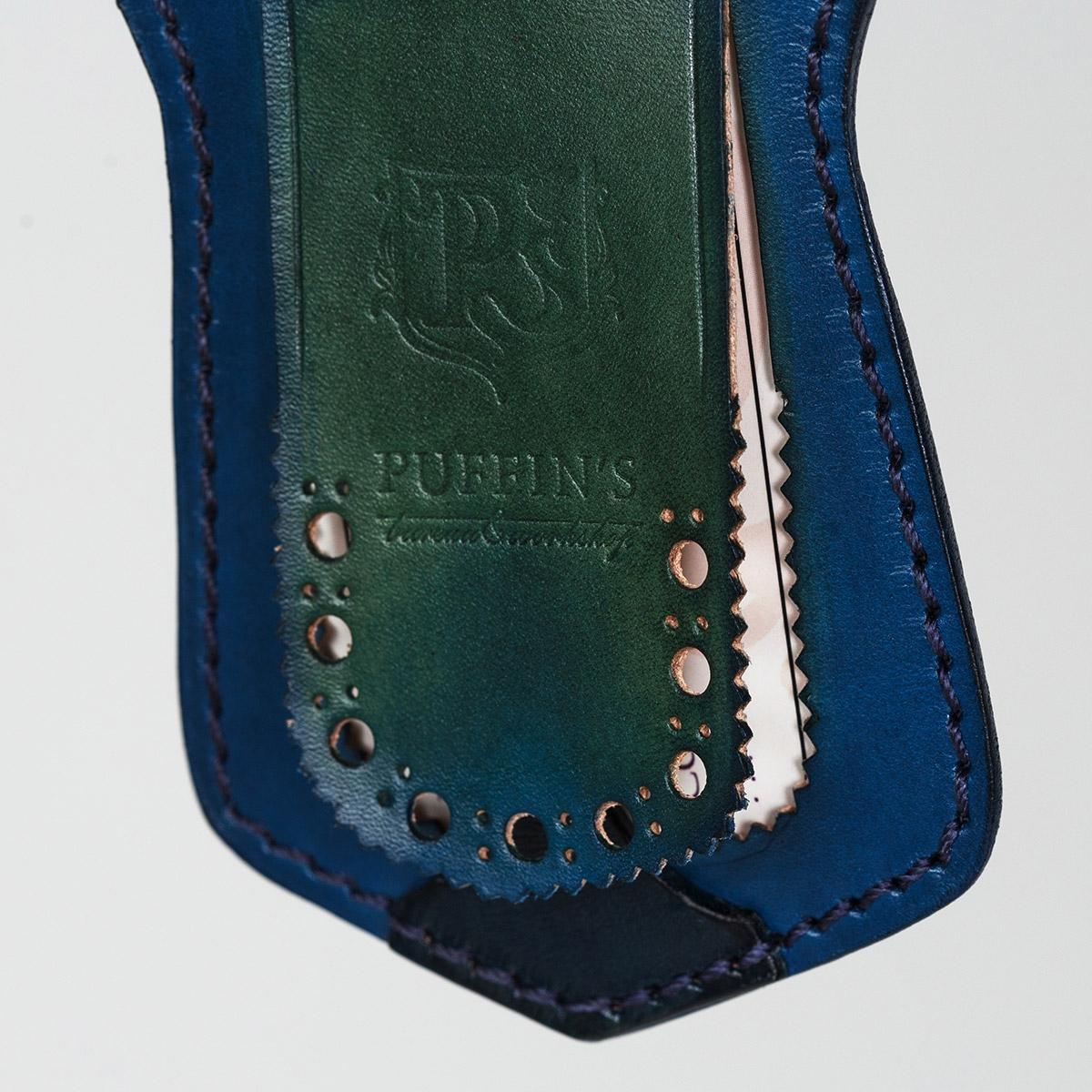 Luggage tag TAVARUA grassy green & sapphire blue