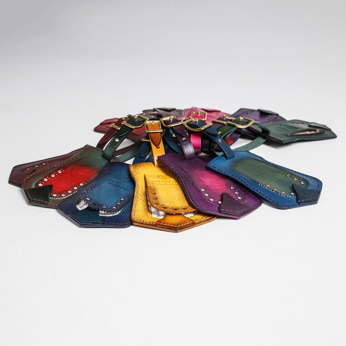 Багажный ярлык TAVARUA персонализированный с патиной пурпурный & чернильный