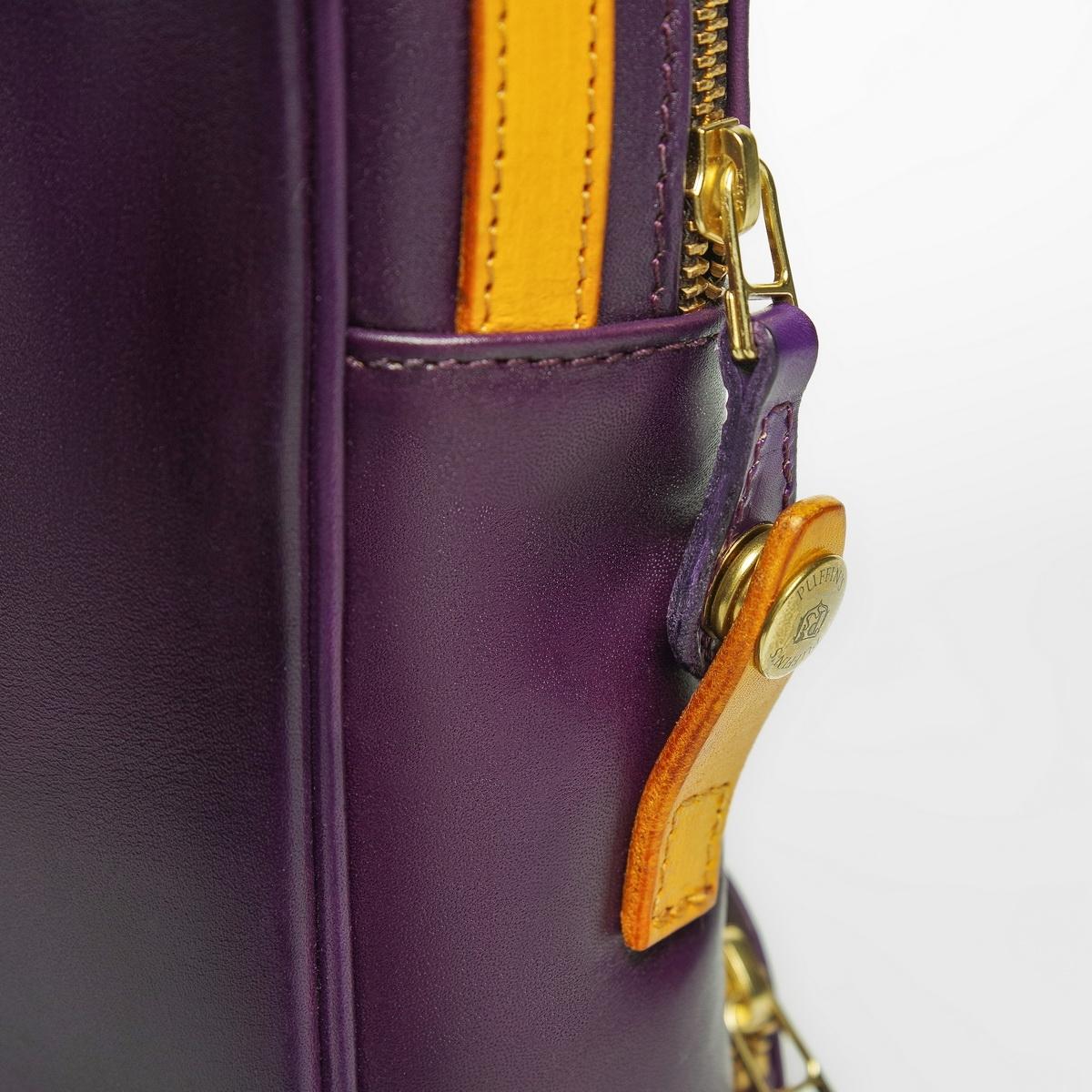 Crossbody bag-transformer CHELSEA bright mustard & violet ink