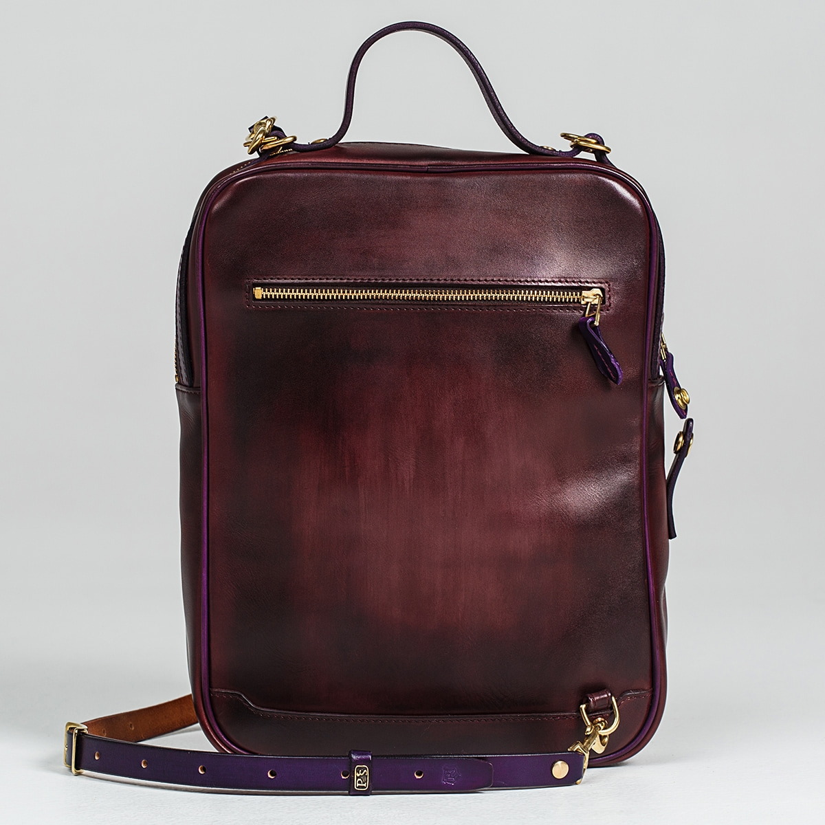 Crossbody bag-transformer CHELSEA violet ink & bordeaux