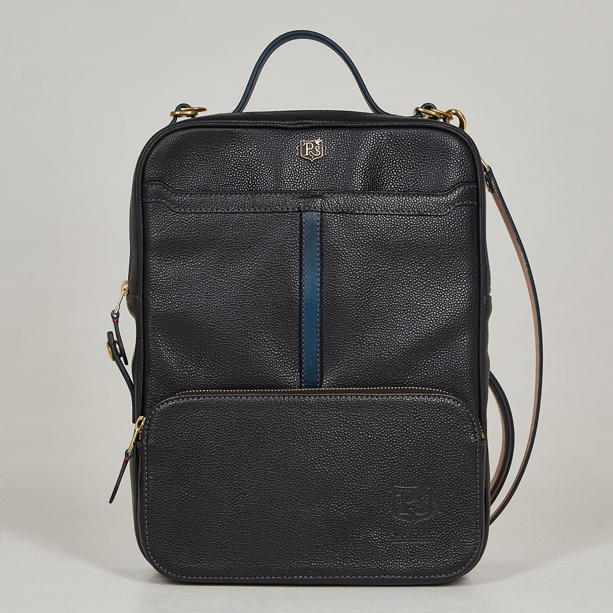 Crossbody bag-transformer CHELSEA sapphire blue & grain black