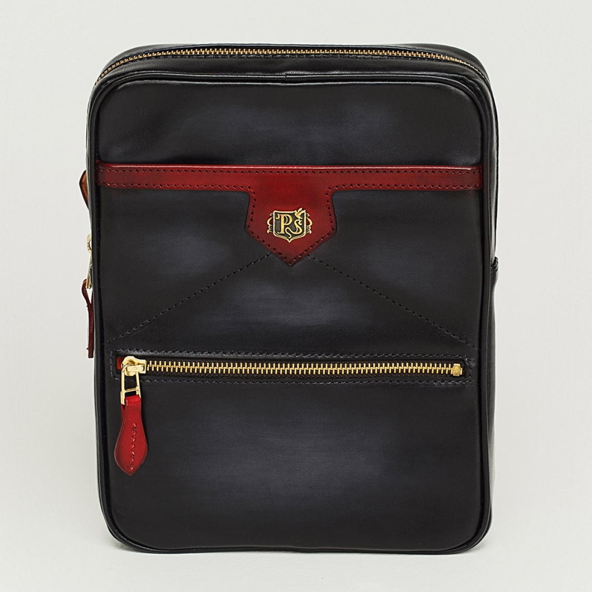 Crossbody bag MEZZO red currant & anthracite