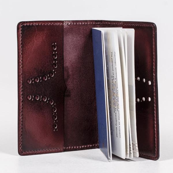 Passport cover CYNARA bordeaux