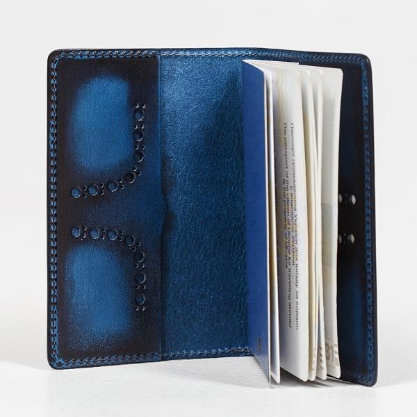Passport cover CYNARA sapphire blue