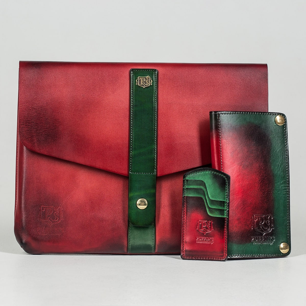 Long wallet LONG ISLAND red currant & grassy green