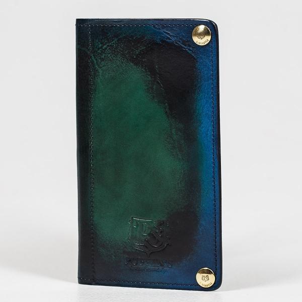 Портмоне LONG ISLAND зеленый травяной & голубой сапфир