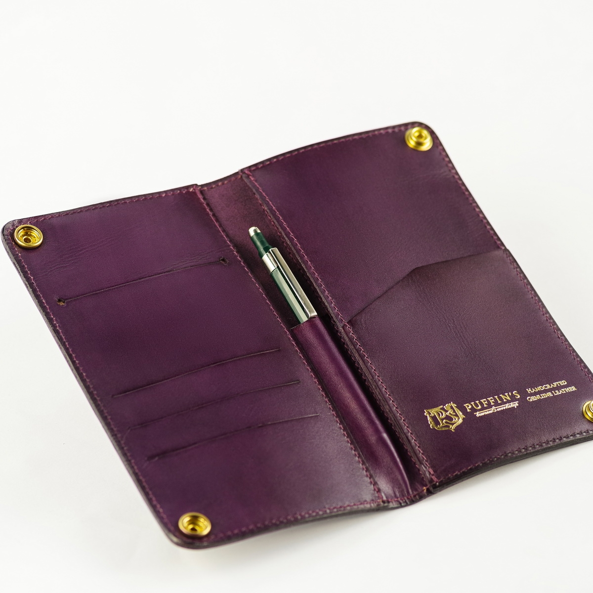 Long wallet LONG ISLAND violet ink